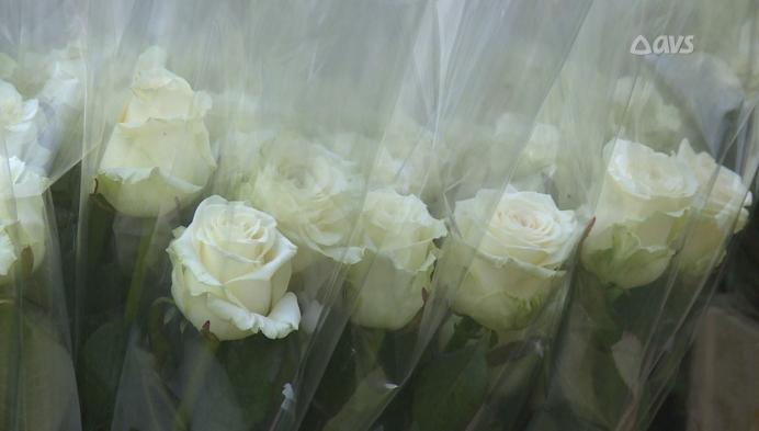 Bloemen voor het personeel van Huize Roborst