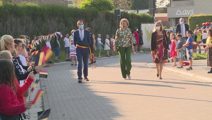 Koningin Mathilde bezoekt Multifunctioneel Centrum Meetjesland
