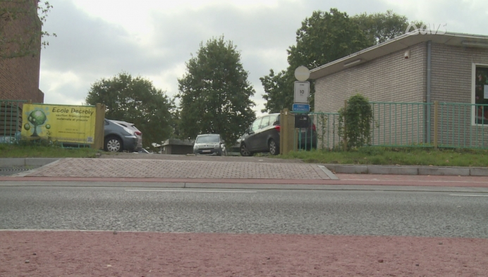 Rel rond zebrapad in Ronse